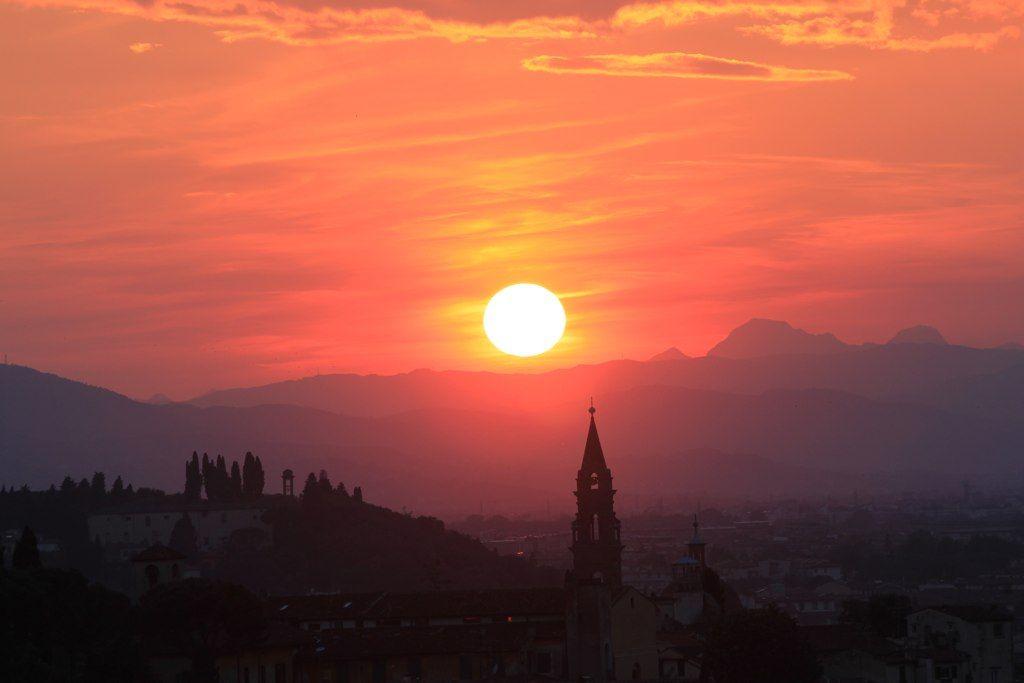 Florence at sun set