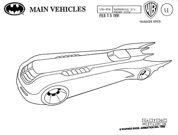 Batman Animated Tv Series Model Sheet Props 01 Jpg 600 456