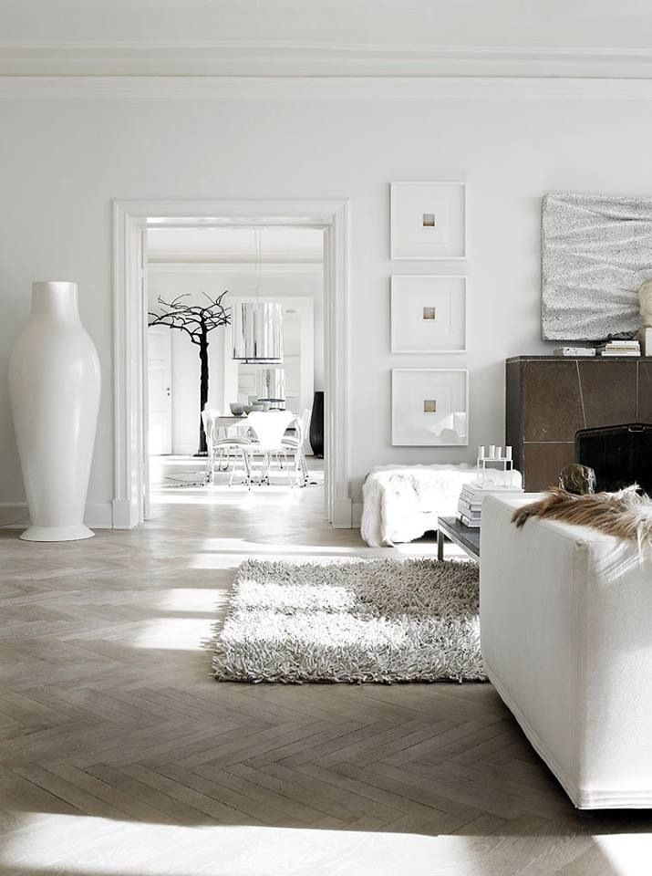 Creative White Home Interior Design With House With White ...