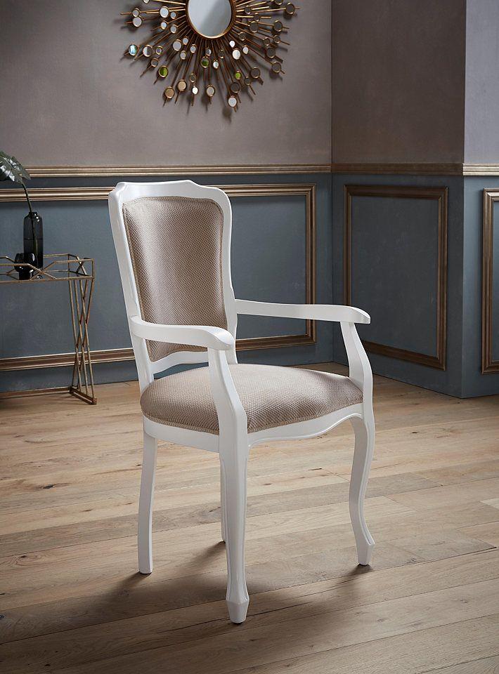 Places of Style Armlehnstuhl »Silvia« aus massiver Buche Jetzt - stühle für die küche
