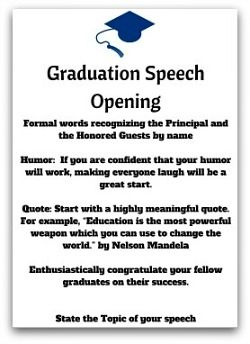 Pin By Tami Murray On Senior Year    Graduation Speech