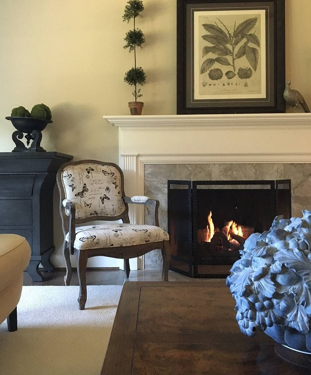 Our Monarch Accent Chair A Cozy Fireplace September