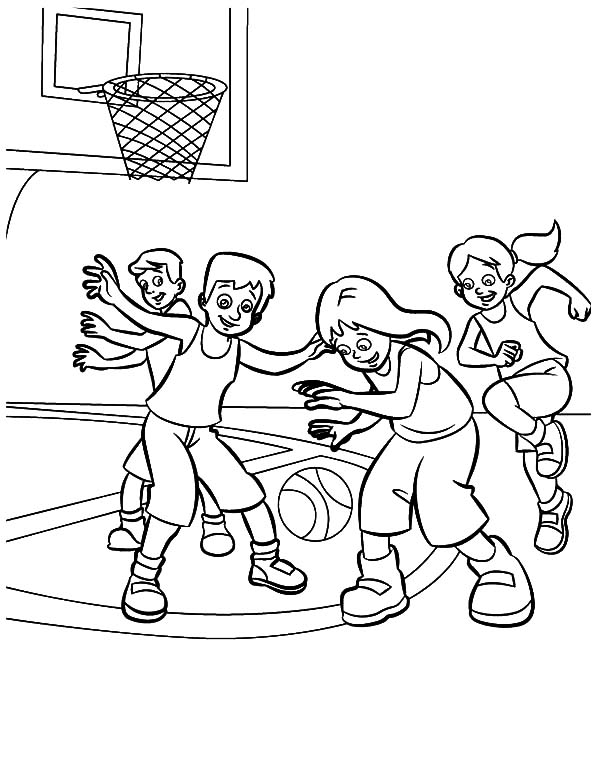 A Team Basketball Exercise Coloring Pages Kids Play Color Coloring Pages Coloring Pages For Kids Coloring For Kids