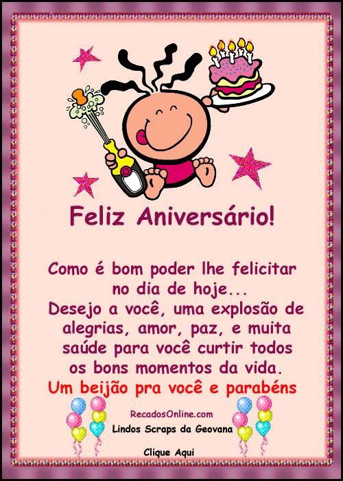 Facebook Cartões Aniversário Versos Engraçados