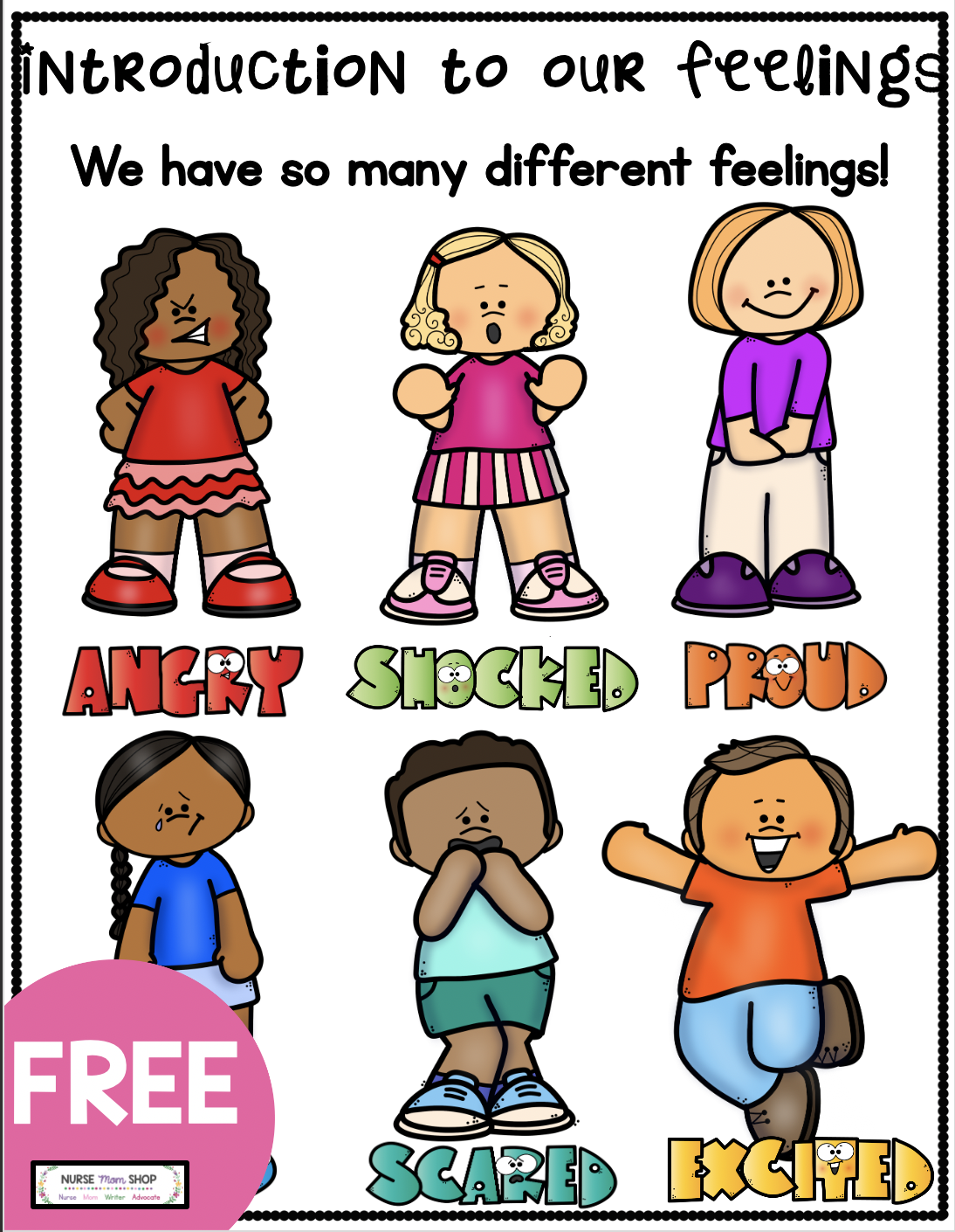 Freebie Understanding Our Feelings