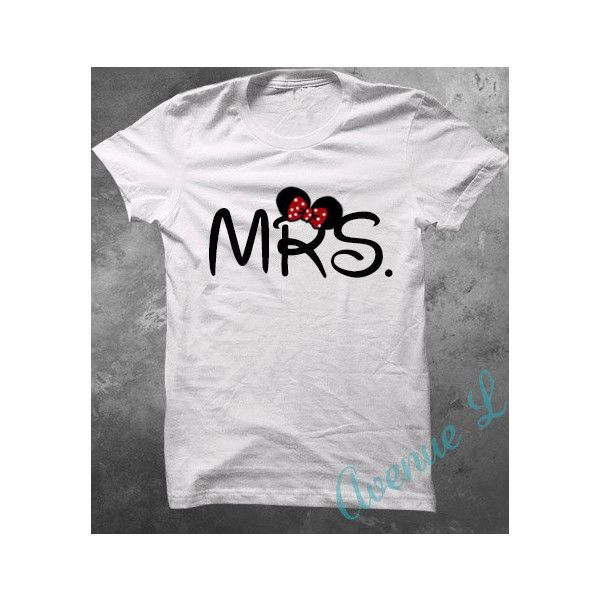 Mr and Mrs Mickey Mouse Disney Shirts! ($36) ❤ liked on Polyvore