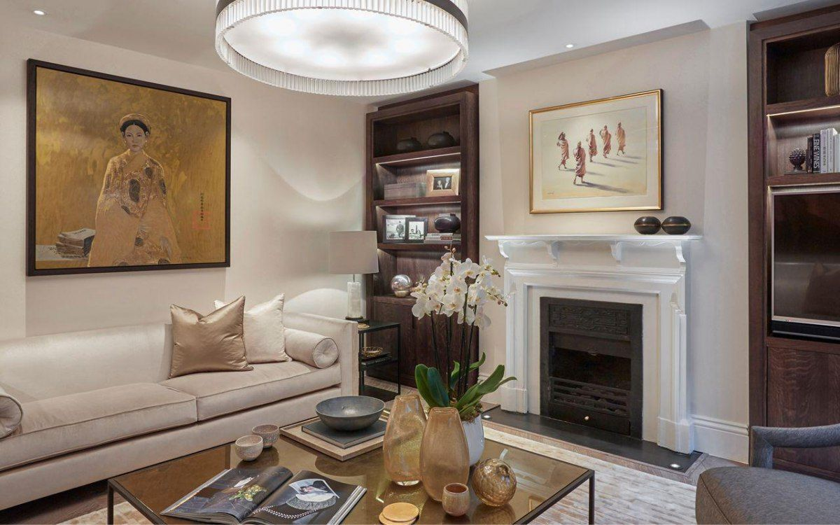 Living Room Design Contemporary Mesmerizing Laura Hammett Classic Contemporary Marylebone Living Room  Pillow Decorating Design