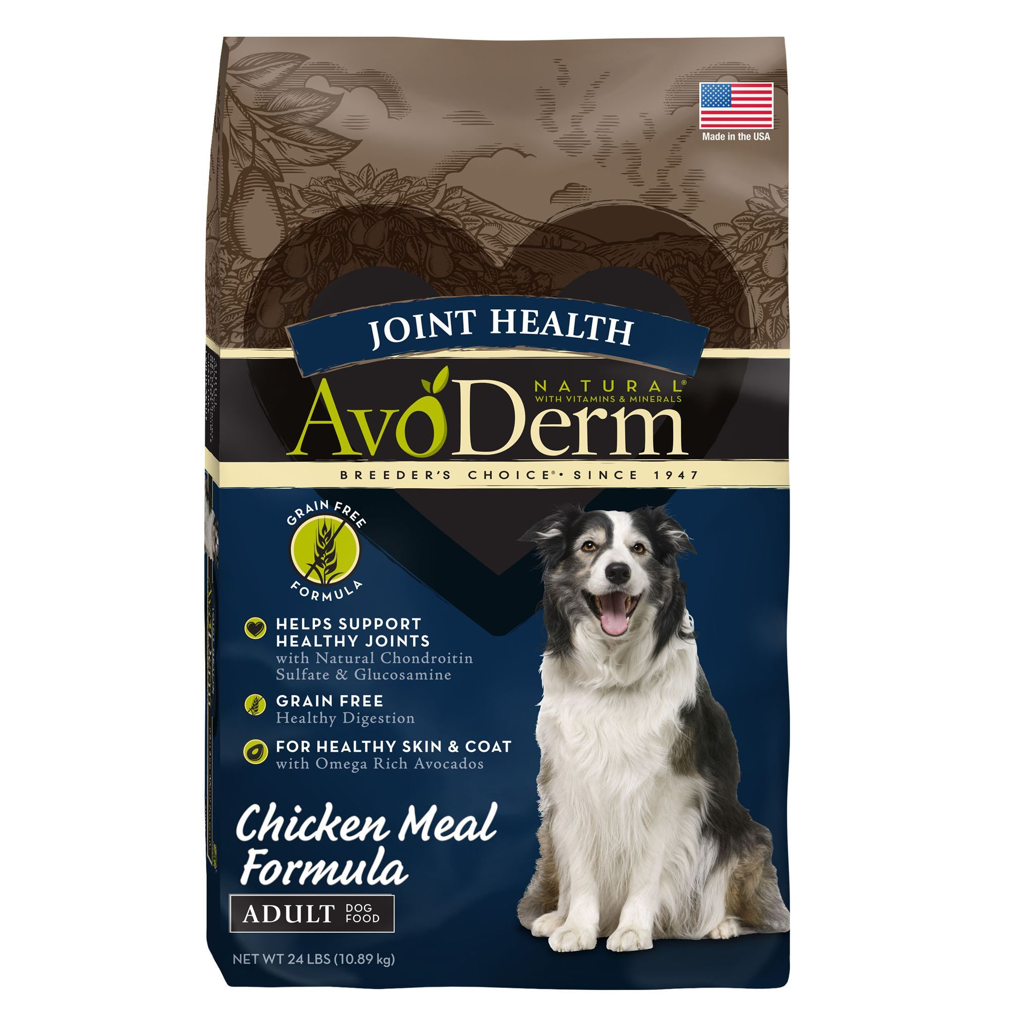 Avoderm Natural Joint Health Adult Dog Food Grain Free Chicken
