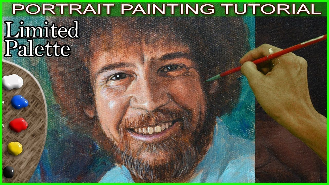 Acrylic portrait painting of bob ross in step by step tutorial by acrylic portrait painting of bob ross in step by step tutorial by jm lisondra youtube baditri Image collections