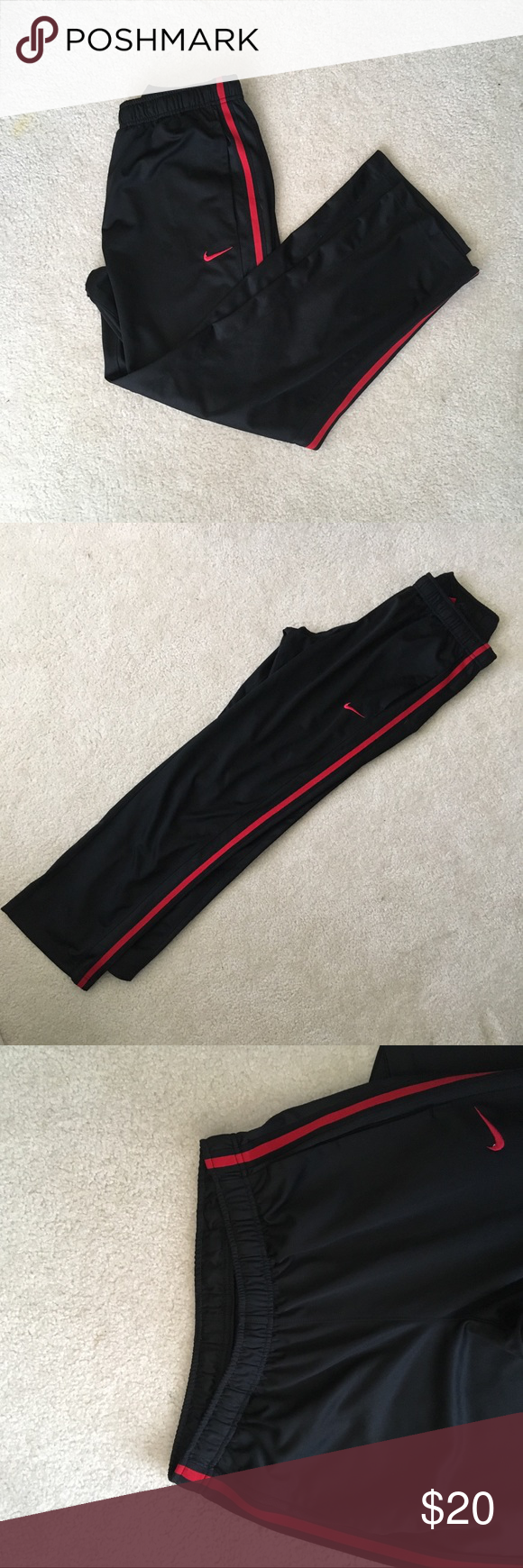 cheapest price new appearance special discount NIKE sweatpants NIKE sweatpants with red stripe down the ...
