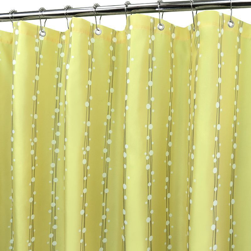 Park B. Smith Bubbles on a String Fabric Shower Curtain - 72'' x 72'', Yellow