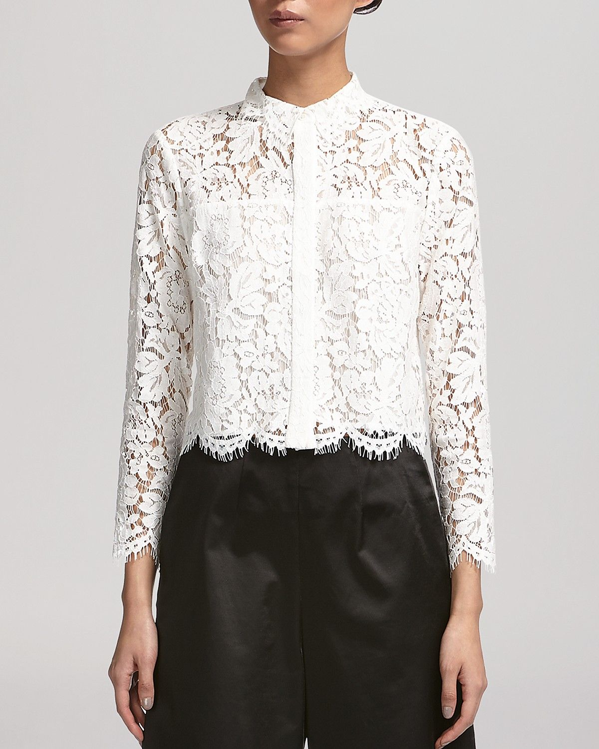 d453694df7dc46 Sandro Coralisse Eyelet-Lace Top | Fashion Inspiration in 2019 | Lace tops,  Lace, Eyelet lace