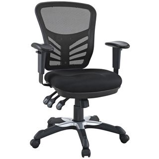 East Ends Articulate Black Mesh Office Chair With Dual Caster Wheels  $128.99 From Overstock