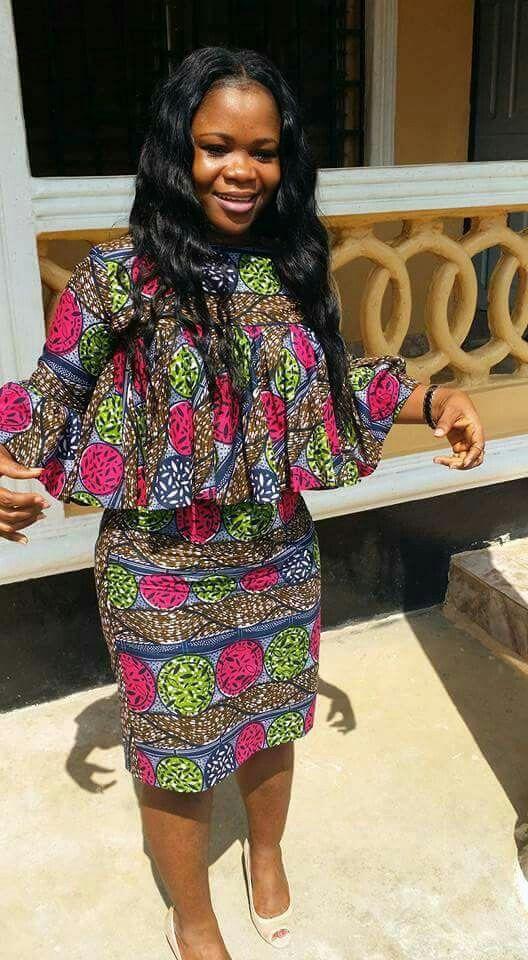 f1023699c0a35 Skirt suit Ankara   Robe Marinière   Pinterest