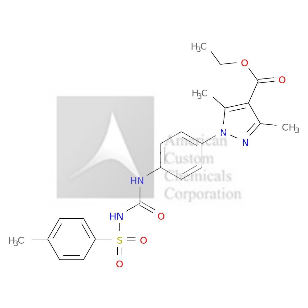 ETHYL 3,5-DIMETHYL-1-[4-[(4-METHYLPHENYL)SULFONYLCARBAMOYLAMINO]PHENYL]PYRAZOLE-4-CARBOXYLATE is now  available at ACC Corporation