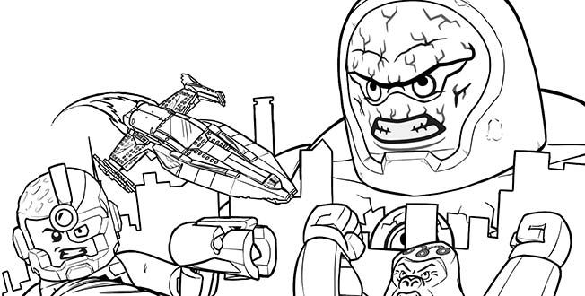 LEGO 2015 - Justice League 1 coloring sheet. | LEGO® Coloring ...