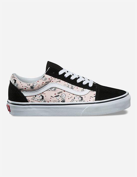 Vans x PEANUTS Smack Old Skool Womens Shoes  28ae8d12a4d
