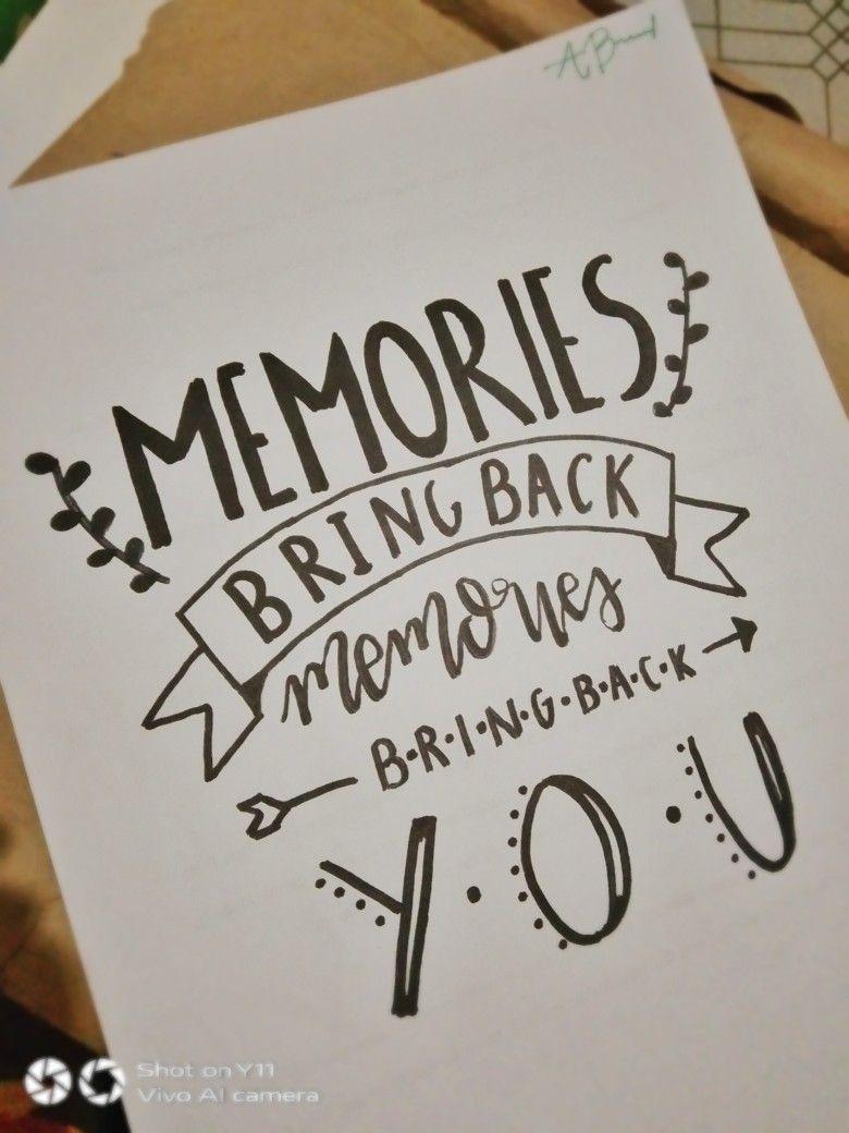 Memories Maroon 5 Hand Lettering Diy Scrapbook Quotes Handlettering Quotes