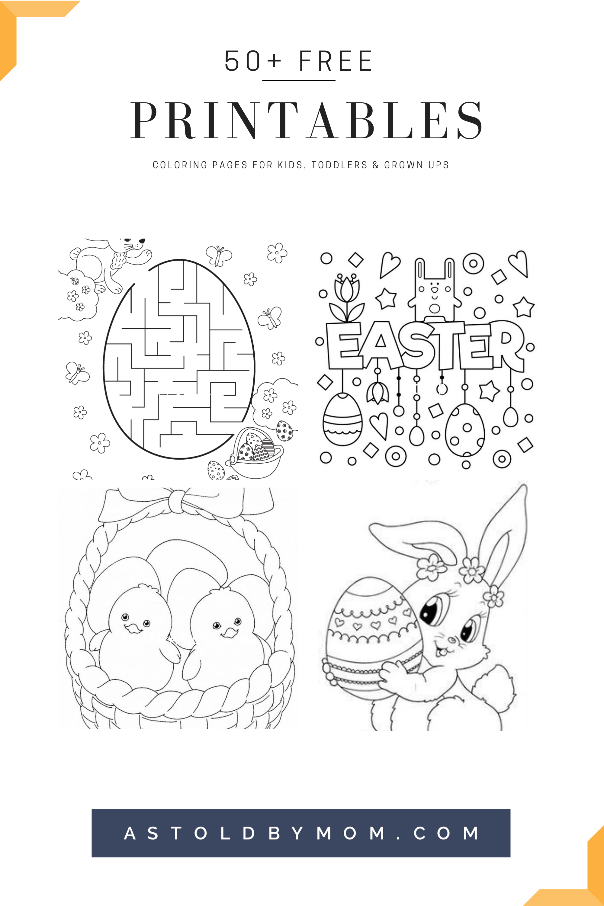 50 Free Easter Printables As Told By Mom Easter Printables Free Free Easter Coloring Pages Bunny Coloring Pages [ 3000 x 2000 Pixel ]