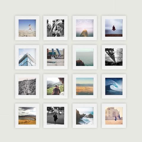 White 4x4 frames : Instagram wall | she\'s crafty in 2018 | Pinterest ...