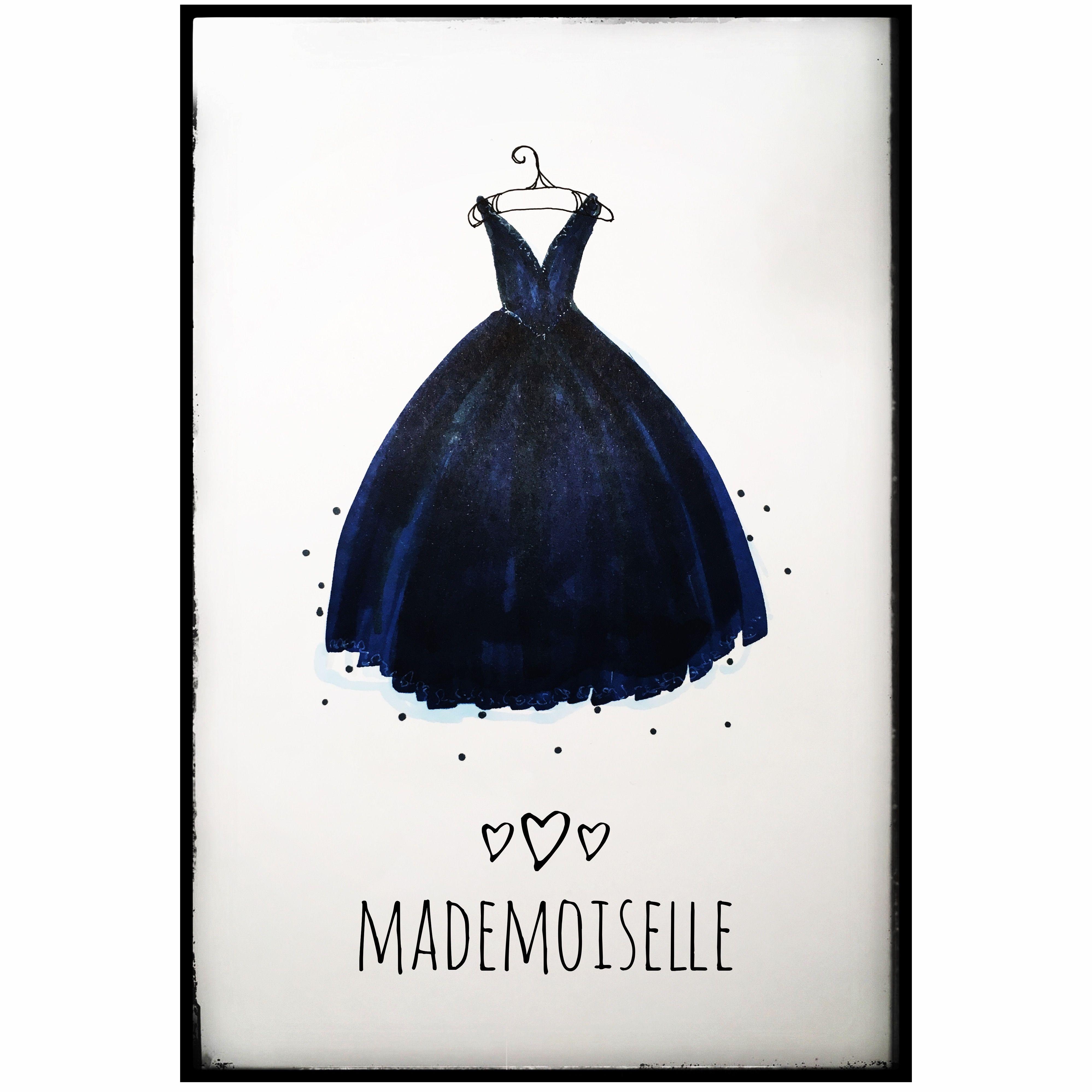 "Fashion-Illustration by SMILLA, Fashionsketch Kleid ""Mademoiselle ..."