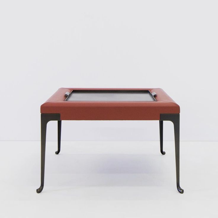 constantine ottoman with tray by mark zeff