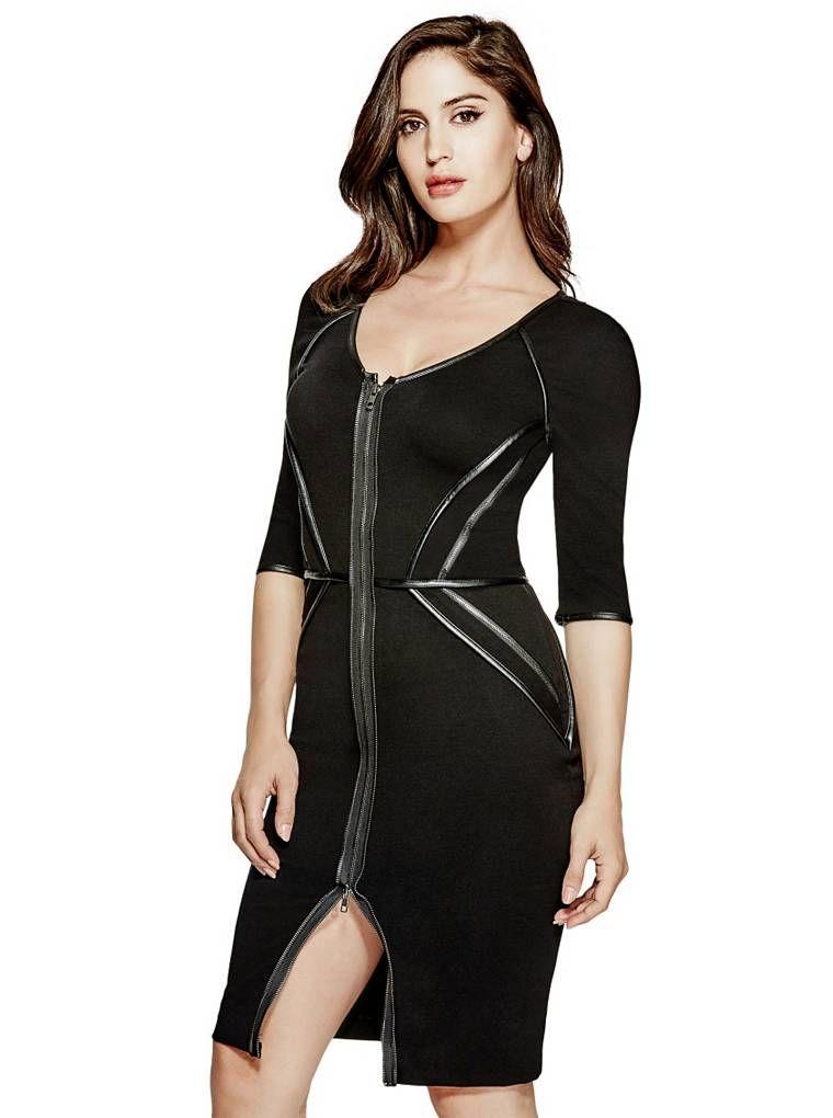 790eb61b1 Dorri Zip Dress   shop.GUESS.com   GUESS / The Latest   Dresses ...