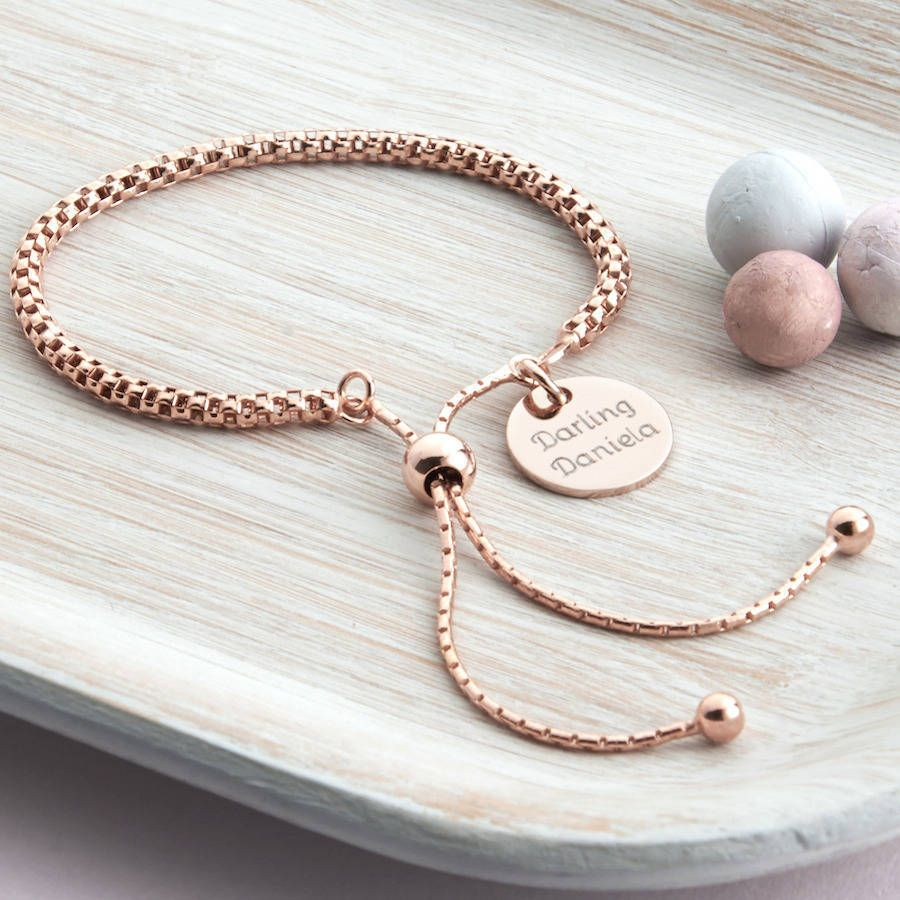 fcfb62b94d7 personalised rose gold friendship bracelet by hurleyburley ...