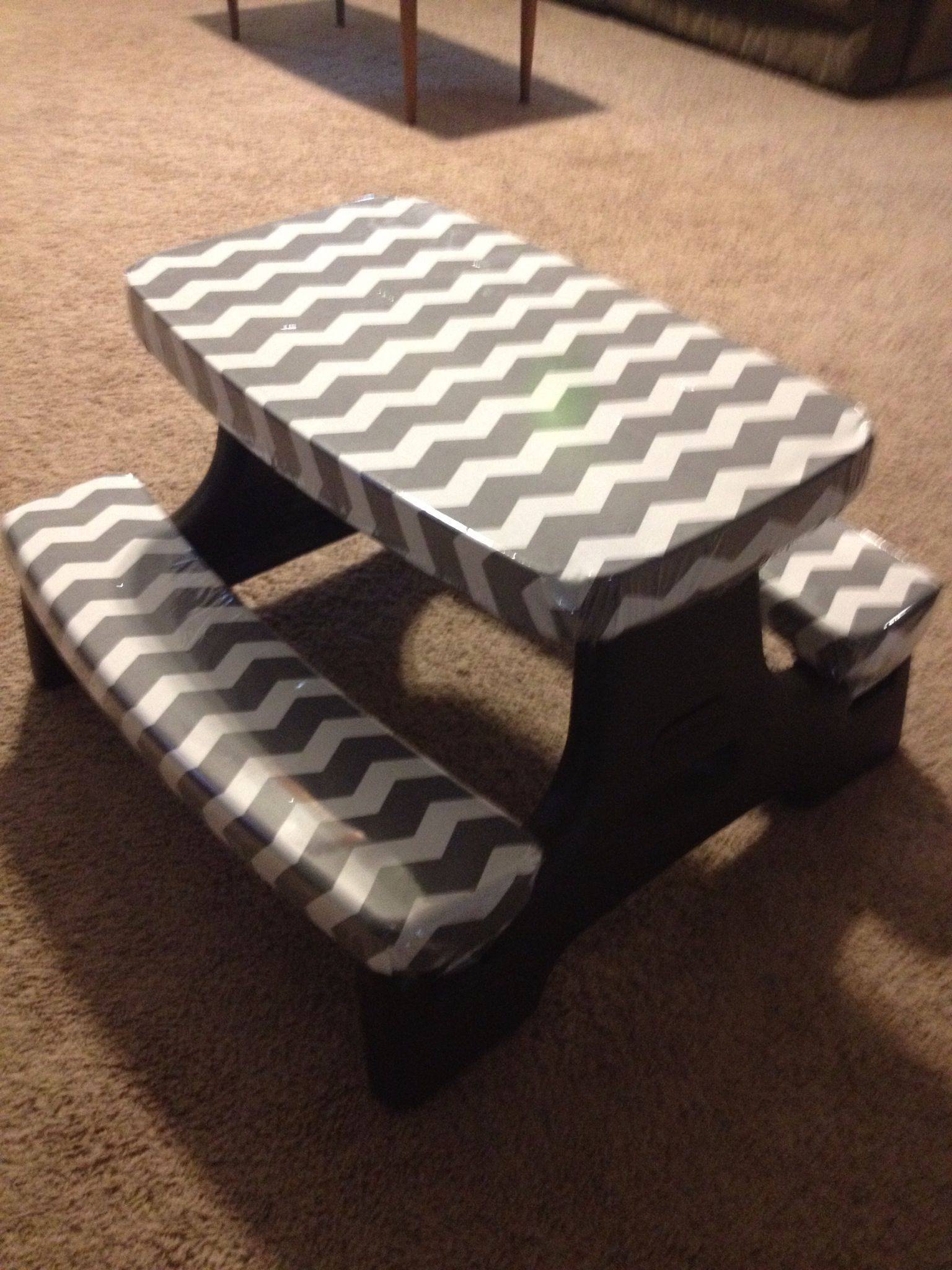 Little Tikes picnic table makeover | My finished, pinterest ...