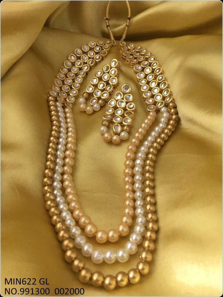 Kundan and moti set indian jewelry pinterest indian jewelry