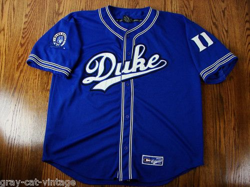 new concept 93867 74d59 VINTAGE Duke University Blue Devils SEWN Baseball Jersey ...