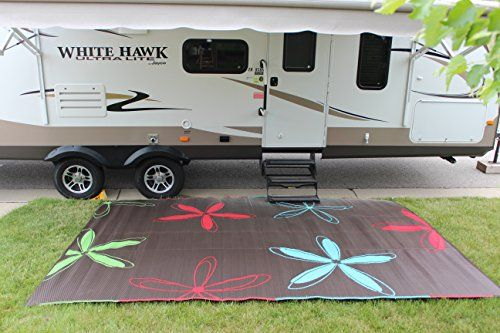 Rv Mat Patio Rug Colorful Floral Design 9x12 Epic Https Www Amazon Com Dp B013nxpwa8 Ref Cm Sw R Pi Dp X Camping Rug Camping Must Haves Outdoor Camping Rugs