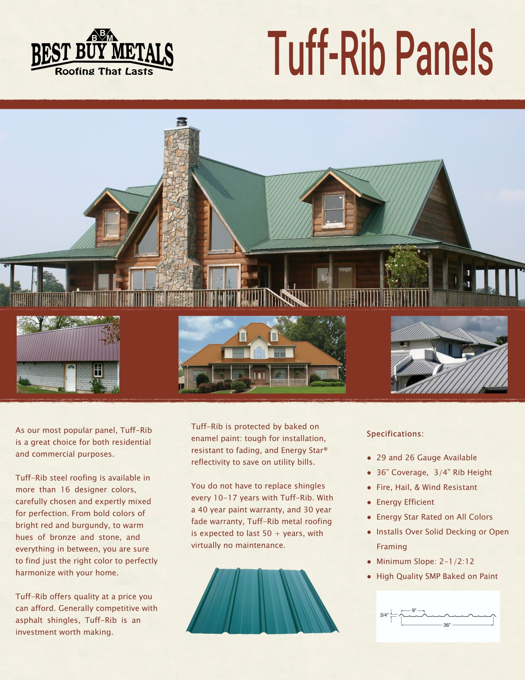 Pin by Dalysha Torres on Tuff Rib Residential roofing
