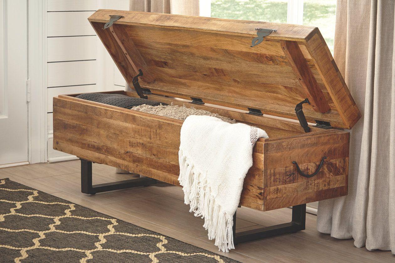 Glosco Storage Bench Ashley Furniture Homestore Bench With Storage Furniture Dining Room Storage
