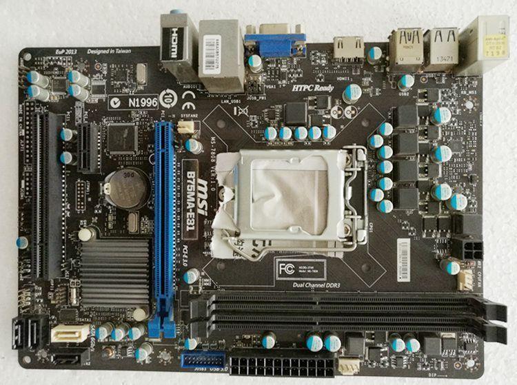 MSI B75MA-E31 Intel B75 Motherboard Socket 1155 LGA1155 CPU W/ IO Backplate #MSI