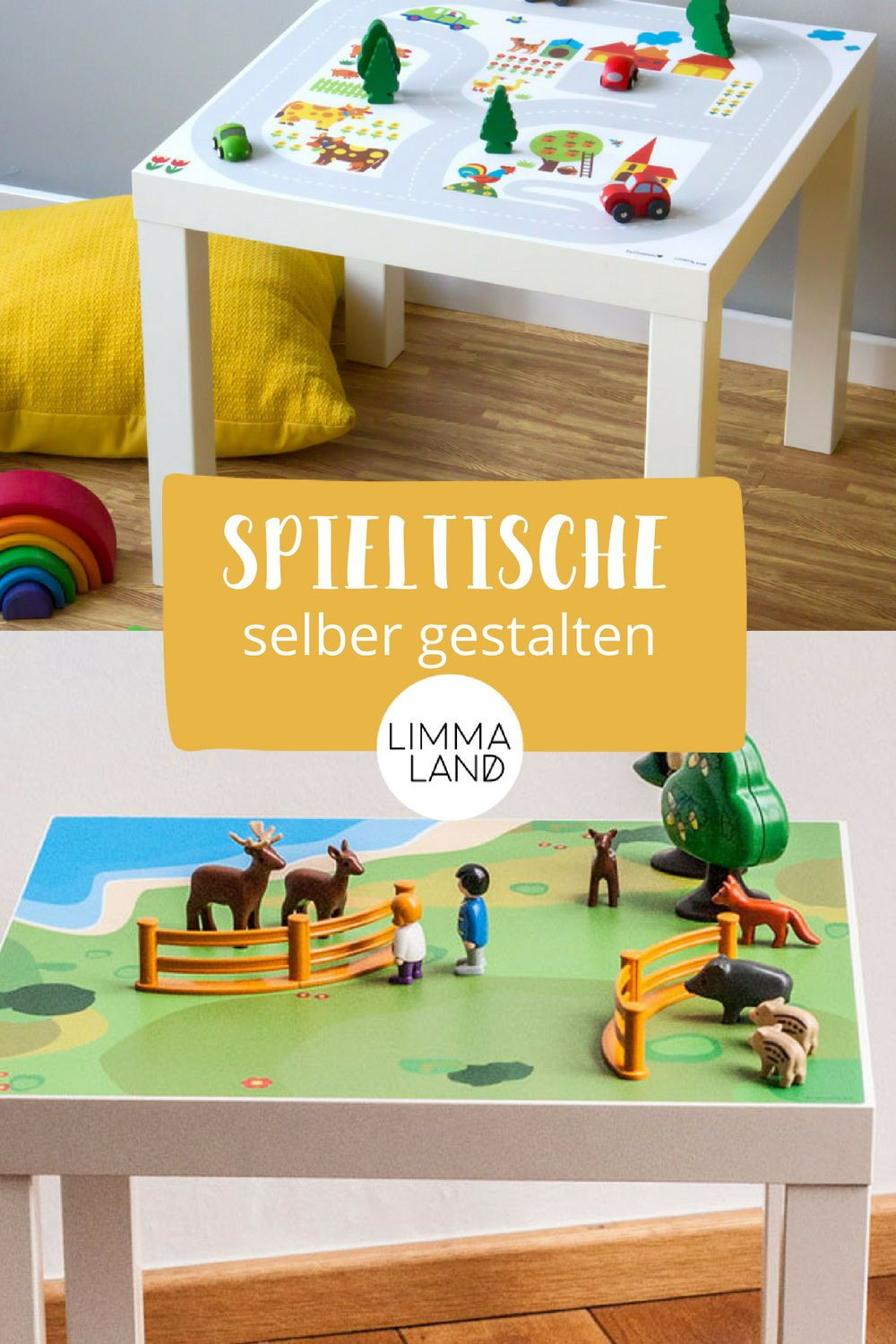 spieltische f r lego und playmobil k nnt ihr selber bauen aus einem ikea tisch und unseren. Black Bedroom Furniture Sets. Home Design Ideas