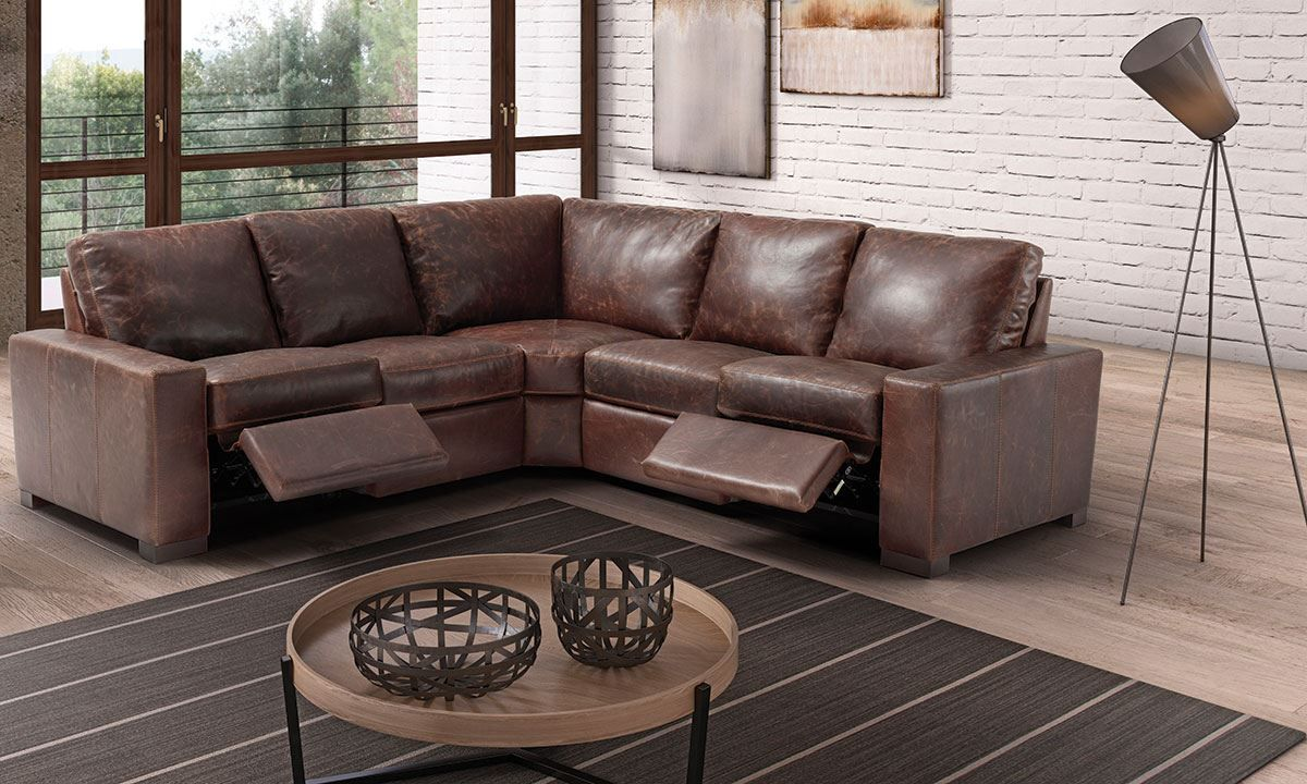 Marinelli Maryland Power Reclining Top-Grain Italian Leather ...