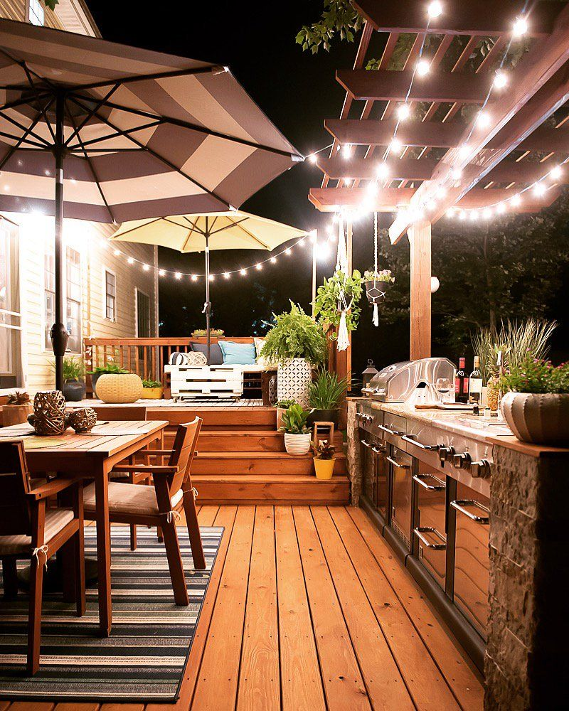Outdoor Kitchen Ideas On A Budget Affordable Small And Diy Outdoor Kitchen Ideas Outdoor Lighting Design Outdoor Kitchen Design Backyard Lighting
