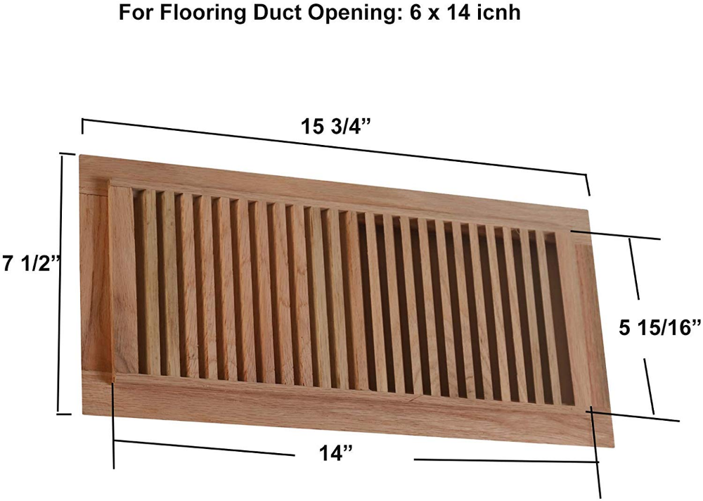 Pin on red oak drop in vents// all size