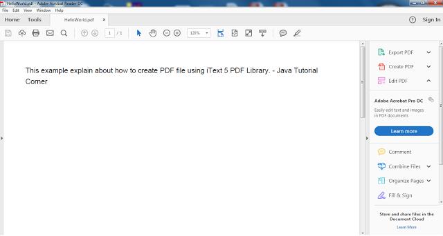 Itext Pdf Jar File