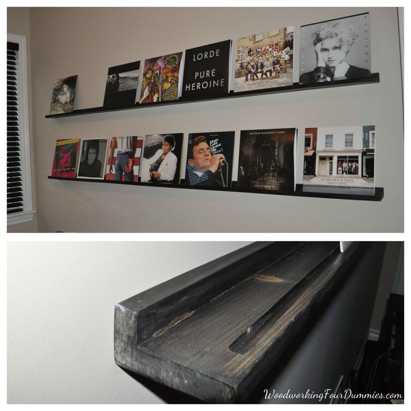 Ana white diy record display shelf diy projects
