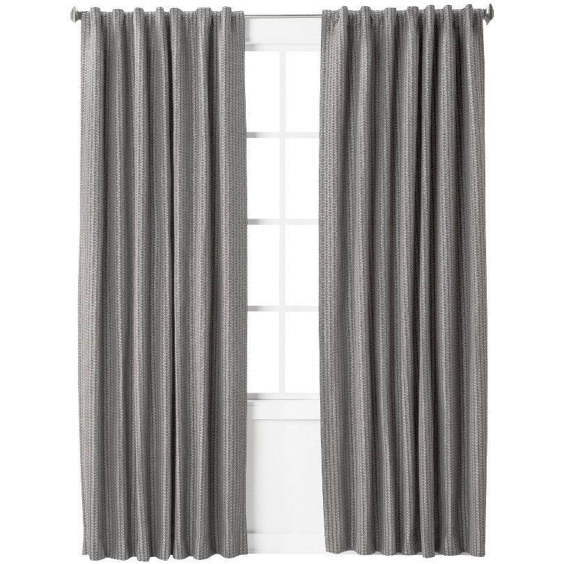 Nate Berkus Textured Window Panel Lovely Woven Gray For