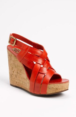 d27222ea8e44 Authentic Tory Burch  Ace  Strappy Wedge Sandal in Scarlet Red  11