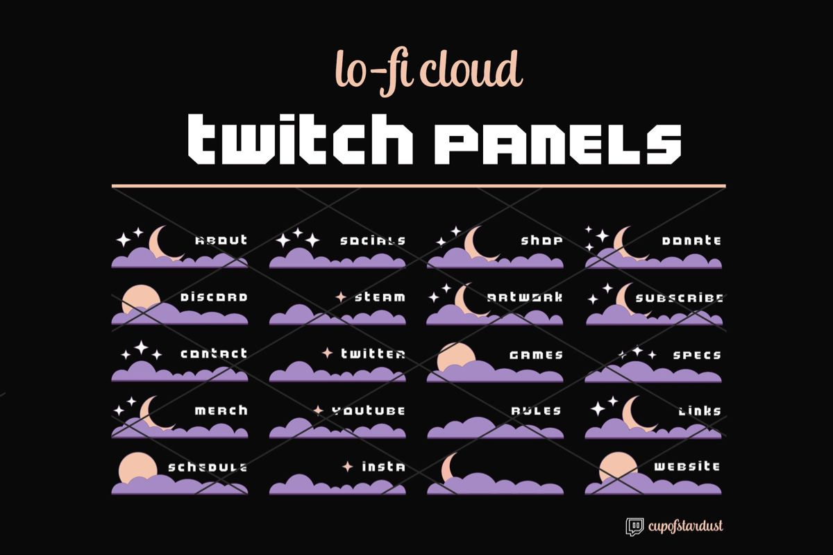 Paineis In 2020 Twitch Streaming Setup Twitch Aesthetic Usernames