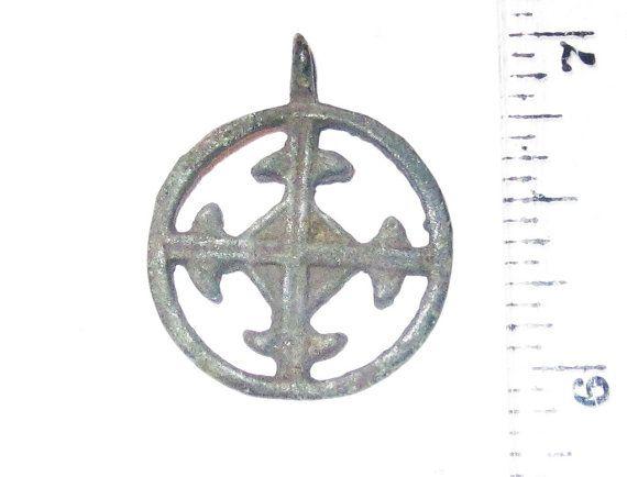 Odins Cross Viking Sun Cross Pendant Heavy By Ancientevenings