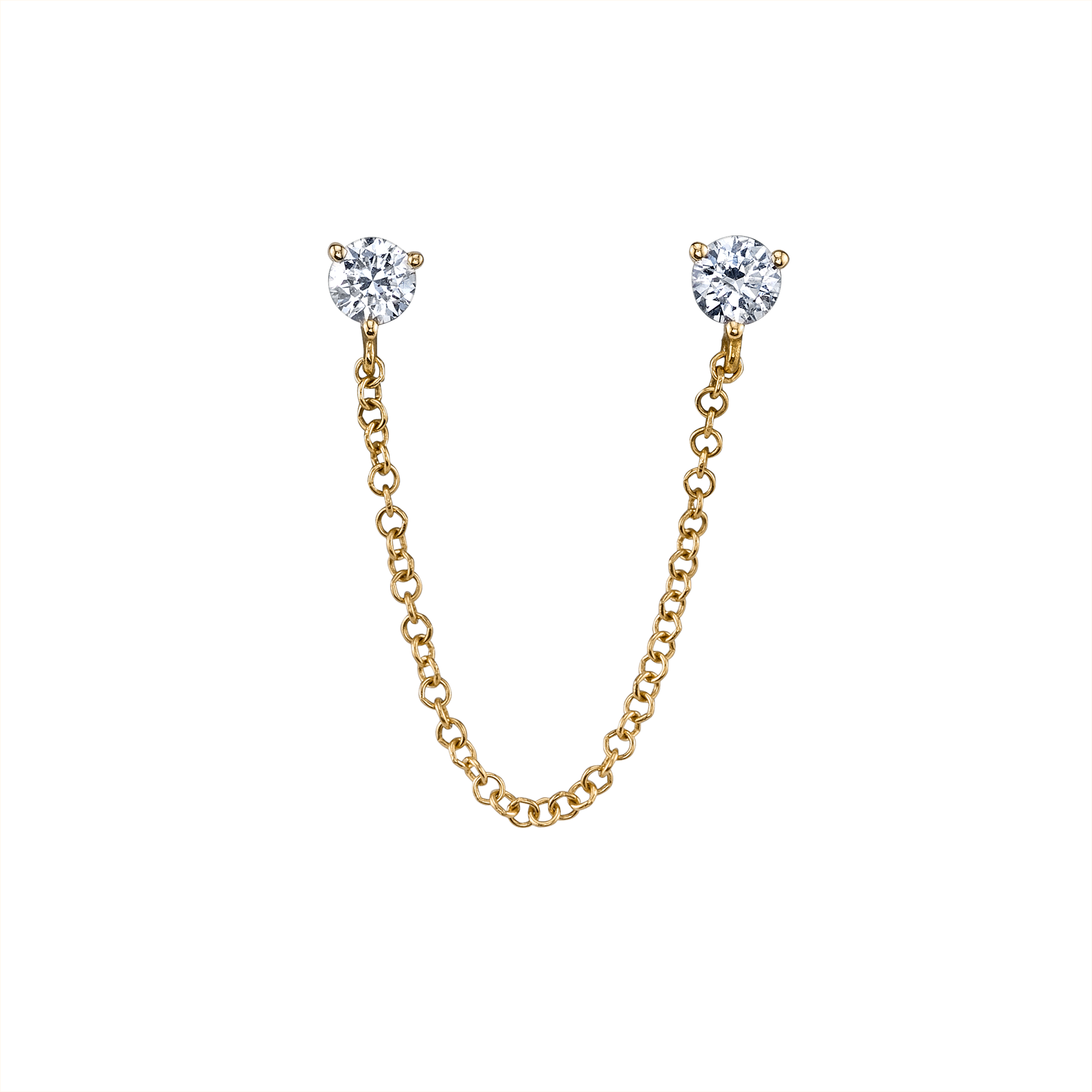 DIAMOND CONNECTED STUD EARRING Stud earrings, Diamond