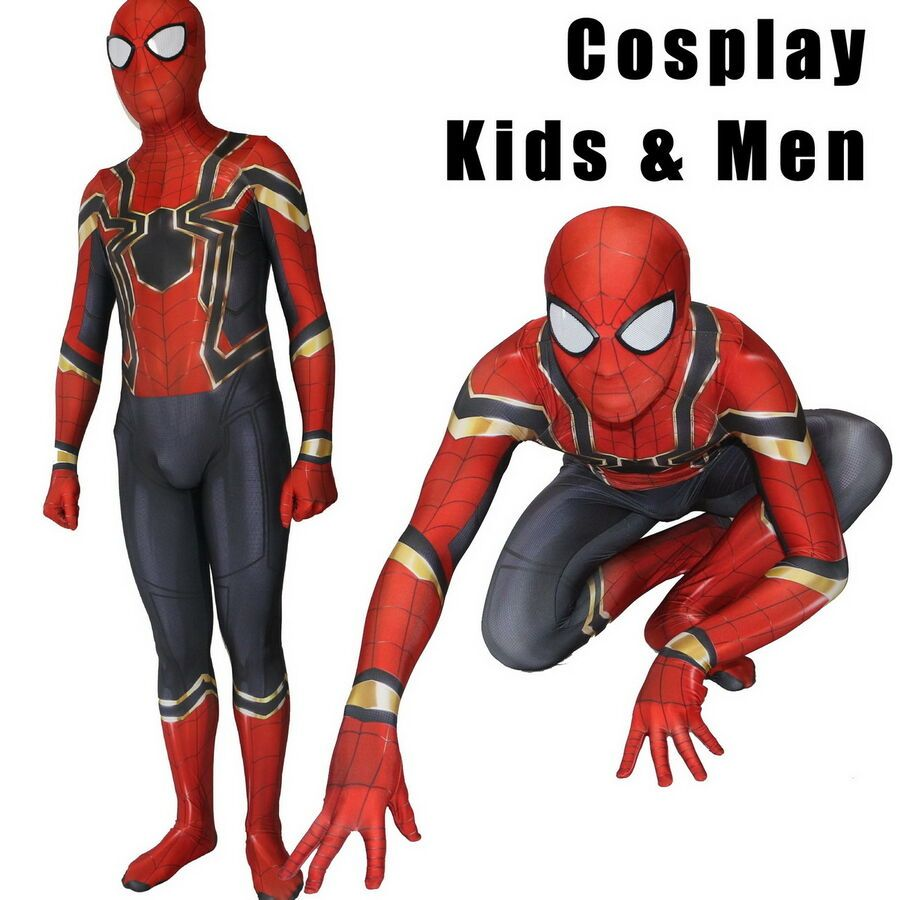 Kids Avengers Infinity War Iron Spiderman Super Hero Cosplay