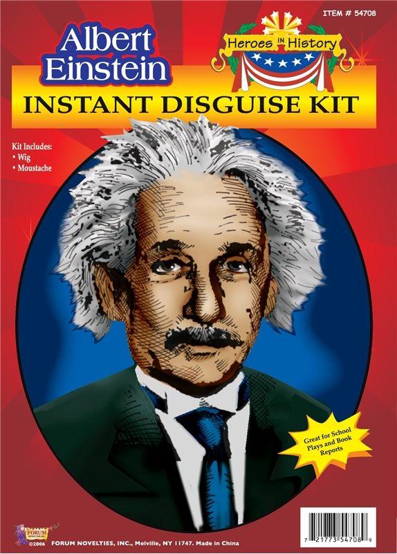 Albert Einstein Wig and Moustache http://www.trendyhalloween.com/Default.aspx?afid=15 #Moustache #movember #fakemoustache