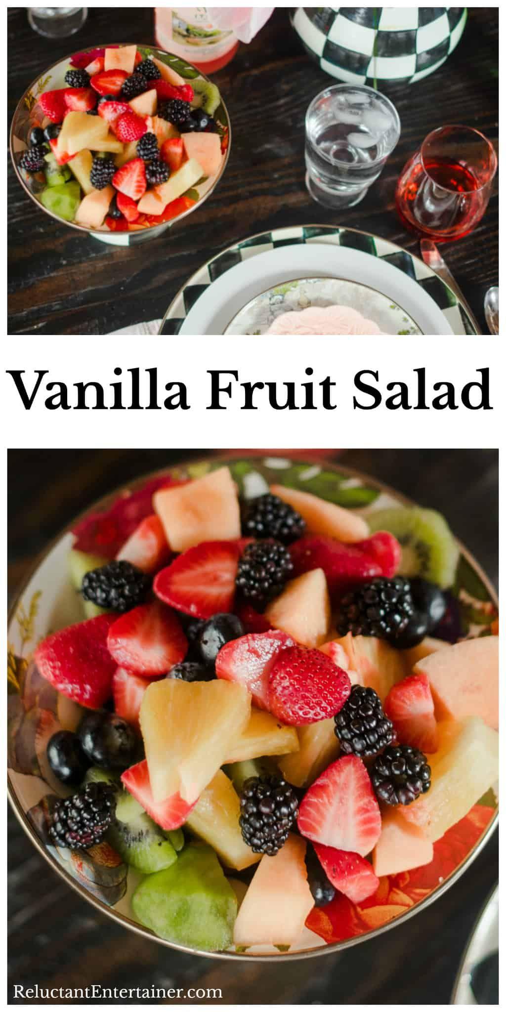 Awe Inspiring Easter Buffet With Vanilla Fruit Salad Recipe Fruitsalad Interior Design Ideas Lukepblogthenellocom