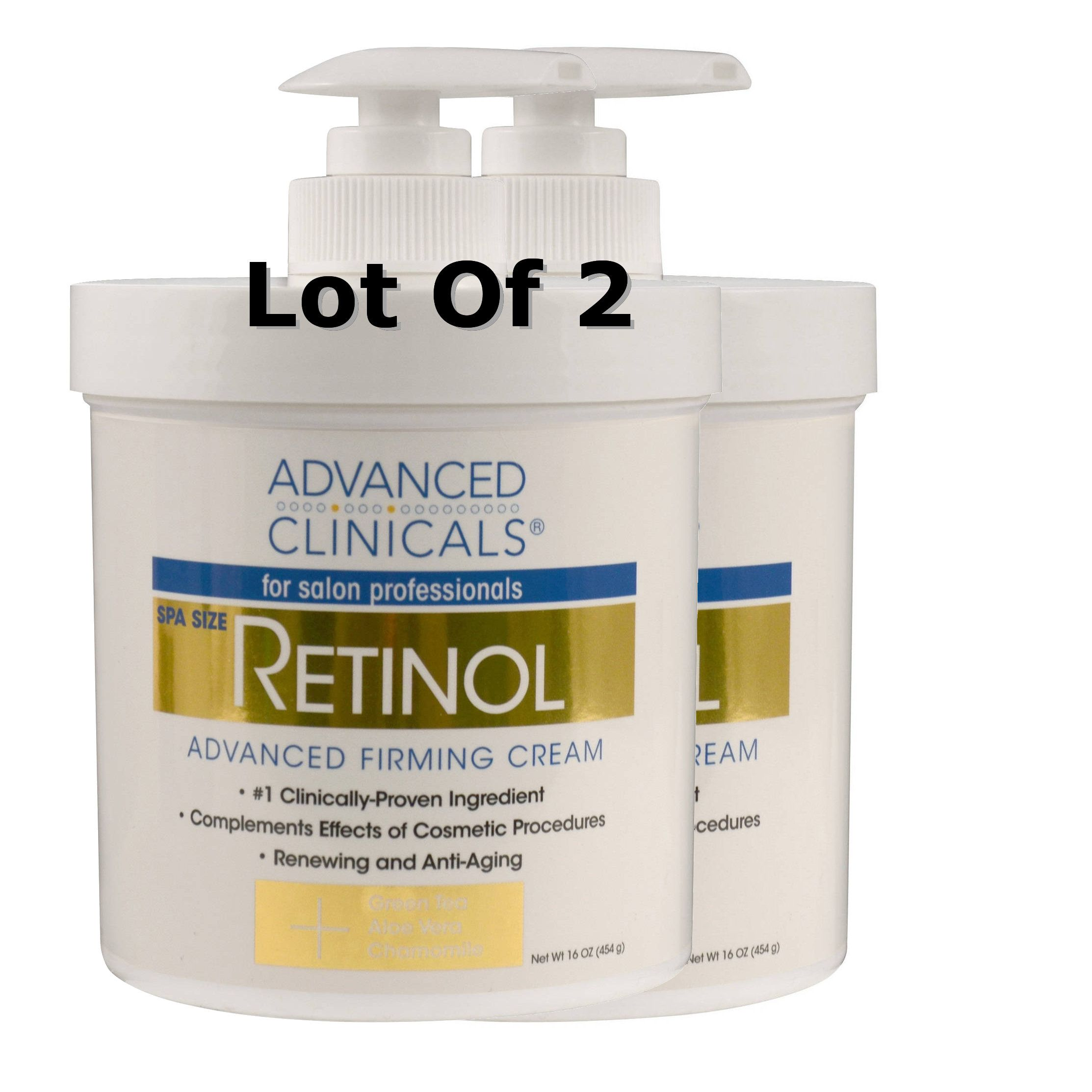 2 Advanced Clinicals Retinol Firming Cream Salon Professionals Spa 32oz Total Helps Erase The Appearance Of Wrin Retinol Firming Cream Firming Cream Retinol